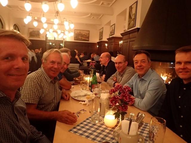 PA244503 Delegates-in-restaurant-Zollpackhof
