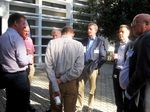 IMG 6607 Kees,Brian,Malcolm,Jo,Dave,Bernt,Emil-outside-ETSI