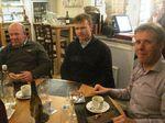 IMG 4122 Phil,Jukka,Kees in Le Chrono-restaurant